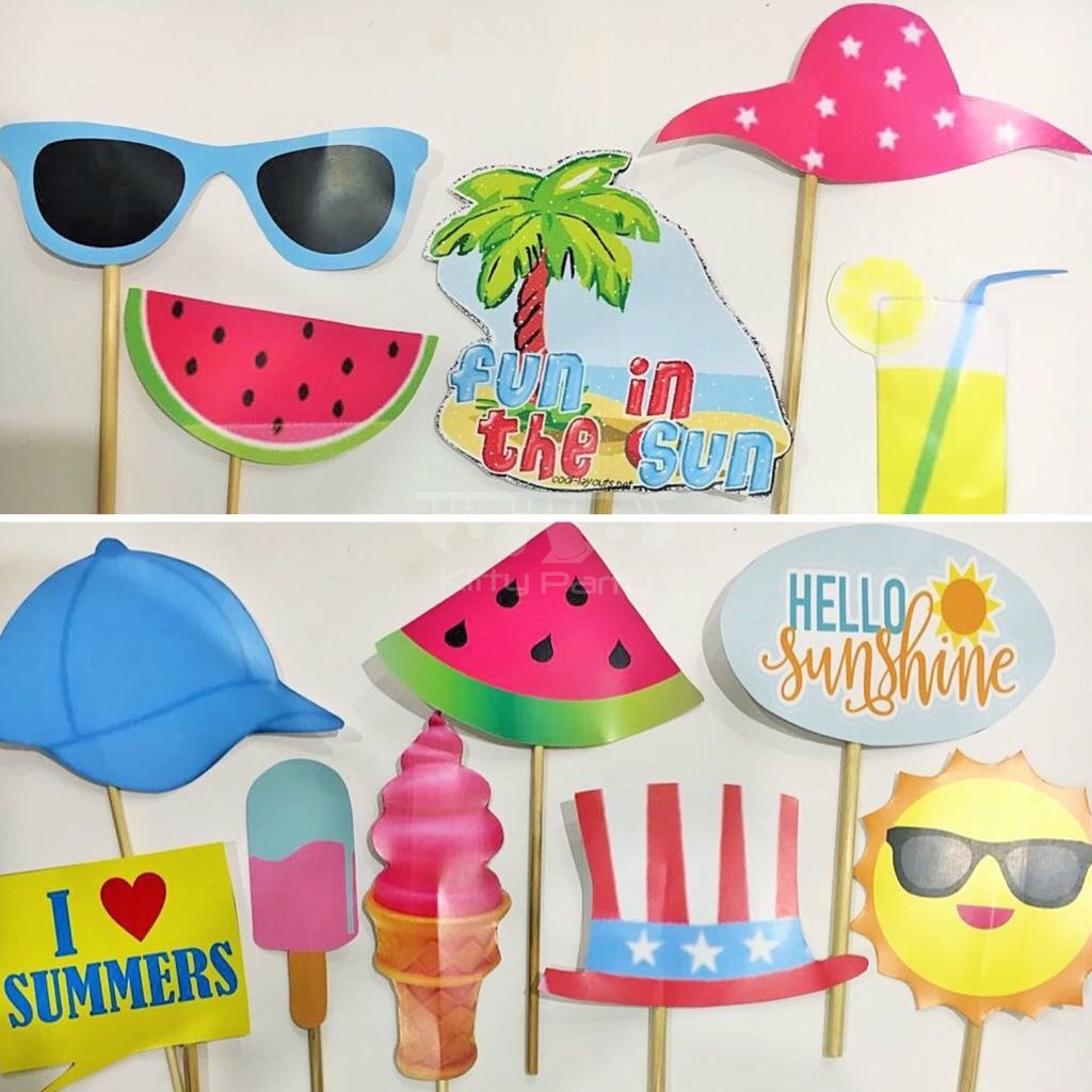 Summer And Pool Party Stick Props